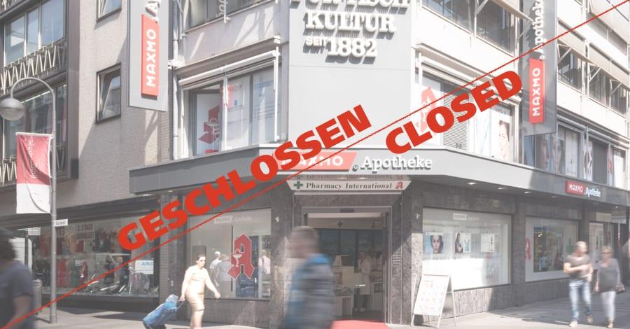 MAXMO Apotheke Köln Hohe Straße schließt aus baurechtlichen Gründen